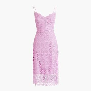 J. Crew Pink Guipure Lace Midi Dress 8